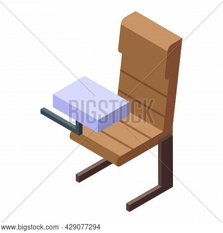 Airplane Chair Icon Isometric Vector. Plane Seat. Interior Aeroplane