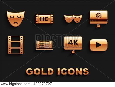 Set Buy Cinema Ticket Online, Online Play Video, Play, Computer Pc Monitor With 4k Technology, Video