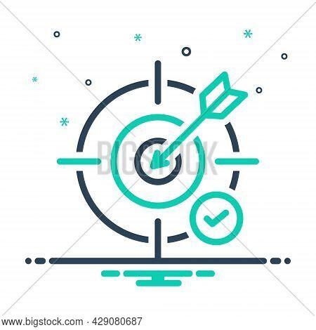 Mix Icon For Objective Unprejudiced Challenge Bullseye Goal Accuracy Dart Archery