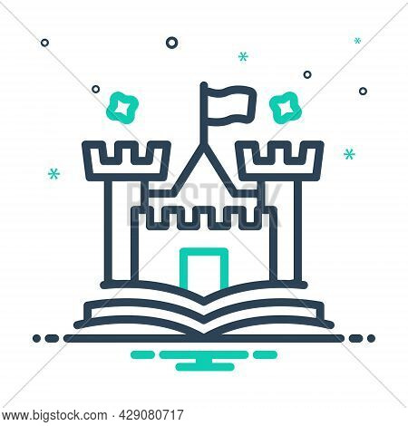 Mix Icon For Tale Narrative Fable Story Saga Novel  Fort Citadel Castle History Moral-tale