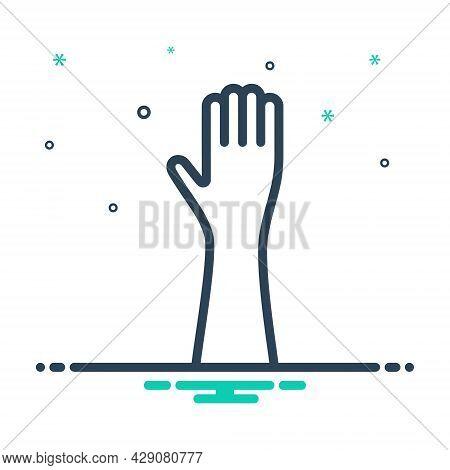 Mix Icon For Hand Palm Gesture Mitt Metacarpus Flipper Body-part