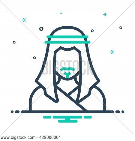 Mix Icon For Eastern Sheikh Sheik Orient Eastern Easterner People Man