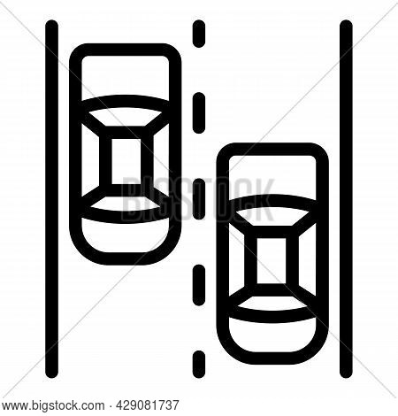 Car Traffic Icon Outline Vector. Automobile Vehicle. City Suv