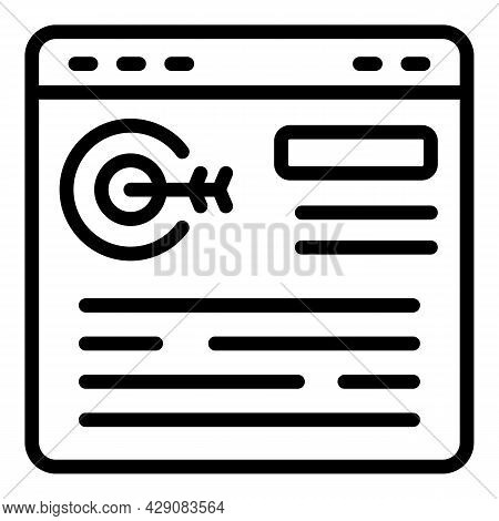 Web Target Icon Outline Vector. Goal Arrow. Business Strategy