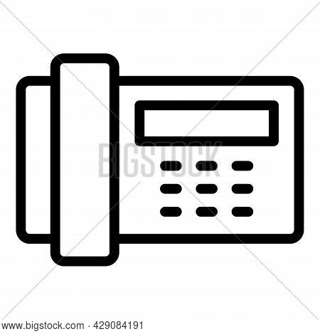 Emergency Telephone Icon Outline Vector. Phone Call. 24 Hotline