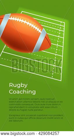 Rugby Coaching, Training And Practicing On Field