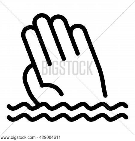 Sos Swimming Icon Outline Vector. Siren Alert. Rescue Life
