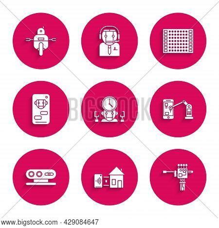 Set Robot And Digital Time Manager, Smart Home, Mechanical Robot Hand Screwdriver, Industrial Machin