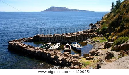 Peru Boats And Island