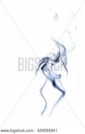 Smoke Hot. Blur Steam Mist Cloud, Black Natural Steam Smoke Effect  Isolated On White Background. Fo