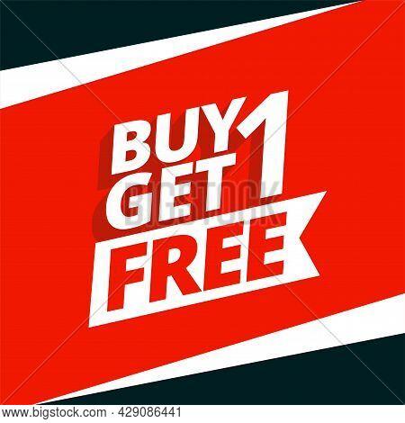 Buy One Get One Free Sale Background Design Vector Illustration