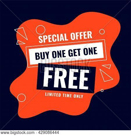 Special Buy One Get One Free Sale Offer Background Design Vector Illustration