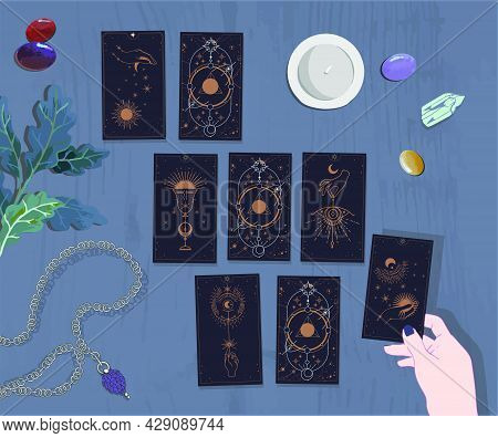 Modern Witch Vibes Oracle For The Week, Aesthetic Witch, Tarot Cards Self-reflection Cards Informati