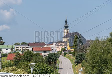 Hilly Landscape Of The Small Community Of Hofkirchen, Austria