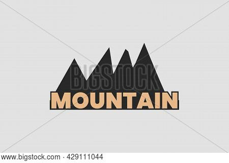 Mountain Wordmark Logo With The Mount As Background.