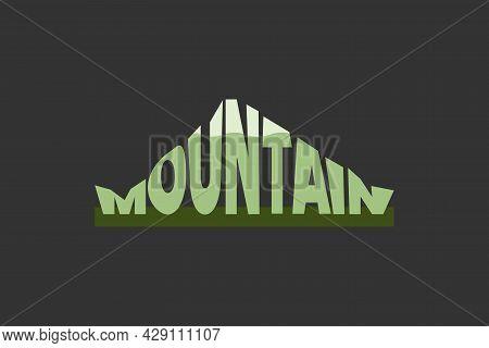 Mountain Wordmark Typography Logo. Mount View In Word.