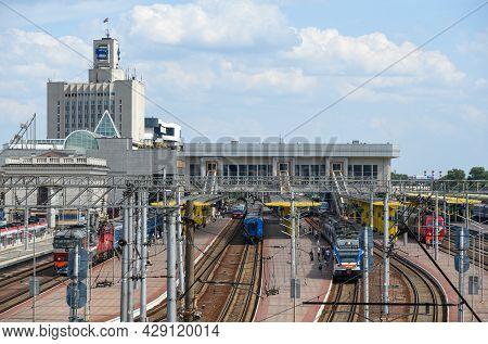 Minsk, Belarus, 08-01-2021: Railway Station Minsk Passenger Of The Belarusian Railway