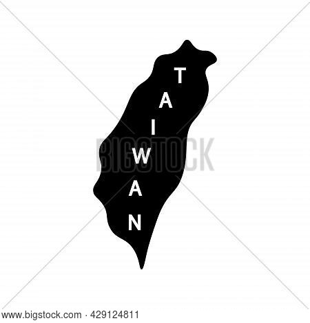 Taiwan Island Glyph Icon. Geography. Oriental Custom. Asian Item. Black Filled Symbol. Isolated Vect