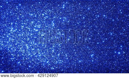 Blue Golden Textured Shimmer Background Texture.gold Glitter Selective Focus.frame Design.decoration