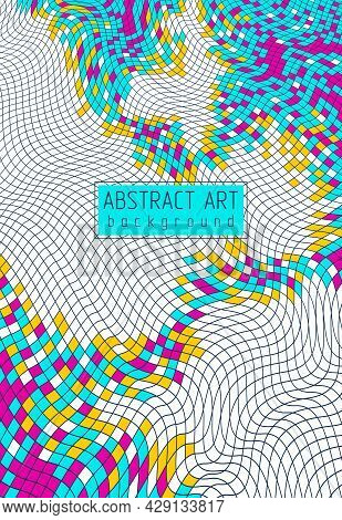 Abstract Vector Background Of Great Geometric 3d Mosaic Art, Artistic Illustration As A Template For