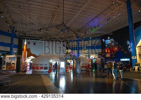 Houston, Tx, Usa - Dec. 15, 2018: Inside Of Johnson Space Center In City Of Houston, Texas Tx, Usa.