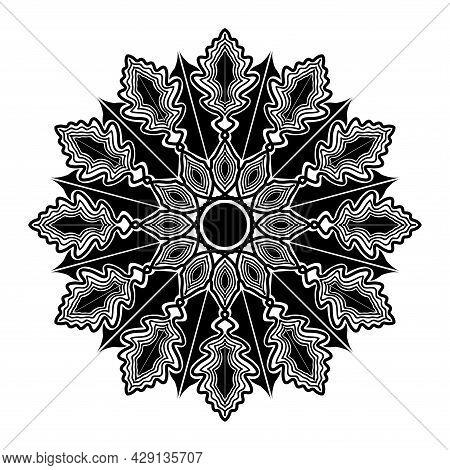Simplicity Line Art Floral Mandala Design Of Design Element For Template Background