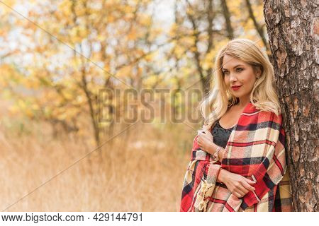 Autumn Clothes And Accessories Collection For Ladies. Concept Of Fancy Style