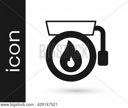 Black Ringing Alarm Bell Icon Isolated On White Background. Fire Alarm System. Service Bell, Handbel
