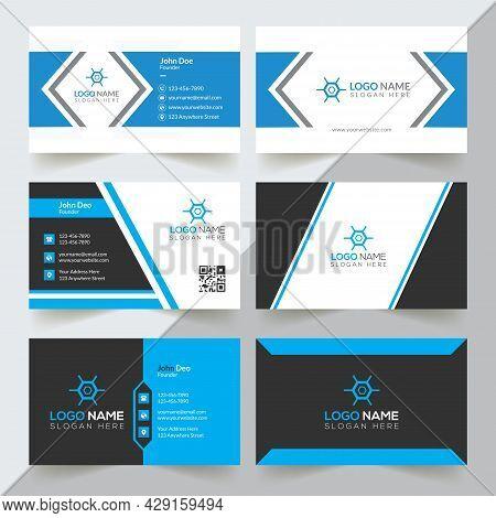 Modern Professional Business Card Template, Simple Business Card, Business Card Design Template, Corporate Business Card Design, Colorful Business Card Template, Creative Business Card, Editable Business Card, Abstract Business Card