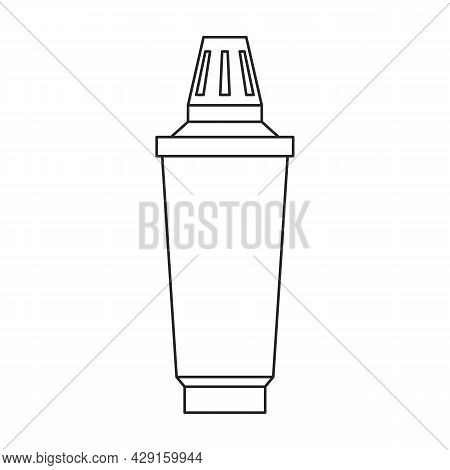 Replacement Filter Vector Icon.outline Vector Icon Isolated On White Background Replacement Filter.