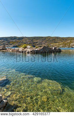 Lagoa Comprida Is The Largest Lake Of Serra Da Estrela Natural Park, Portugal.