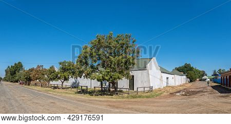Smithfield, South Africa - April 23, 2021: A Panoramic Street Scene, With Buildings, In Smithfield I