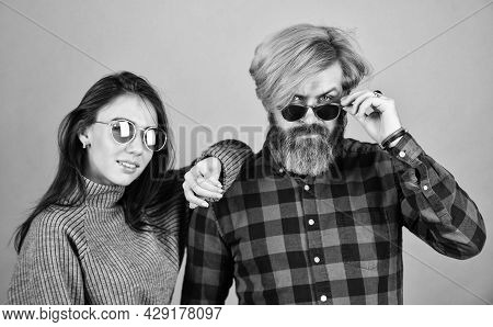Stylish Couple Of Models In Autumn Outfits Posing. Fashion Couple In Love. Enjoying Autumn Time Toge