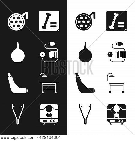 Set Blood Pressure, Enema, Surgery Lamp, X-ray Shots, Inhaler, Operating Table, Machine And Medical