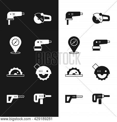 Set Electric Sander, Circular Saw Blade, Jigsaw, Angle Grinder, Circular, Drill Machine And Reciproc