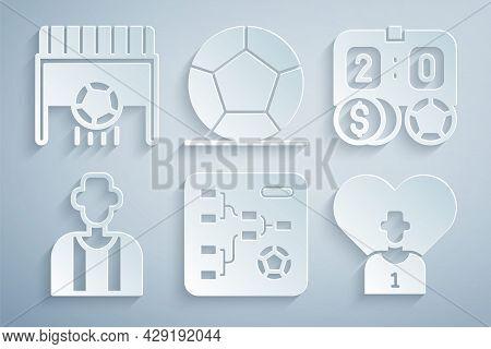 Set Championship Tournament Bracket, Football Betting Money, Or Soccer Referee, Player, Soccer Footb