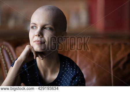 Optimistic Cancer Patient Thinking Of Treatment Recovery