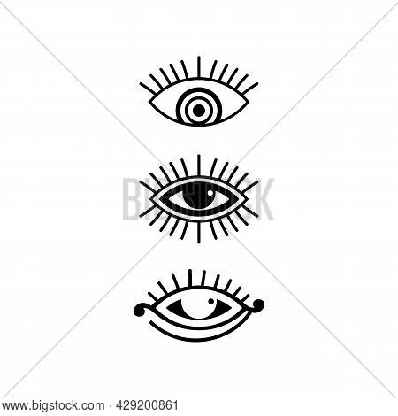 Eye Icon And Vision Design Logo Isolated Sign Symbol Vector Intuition And Spirituality