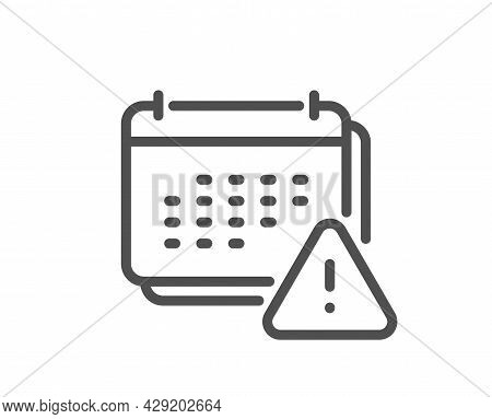 Notification Line Icon. Calendar Notice Sign. Event Reminder Symbol. Quality Design Element. Linear
