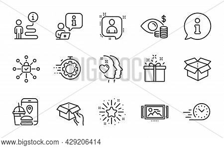 Business Icons Set. Included Icon As Business Vision, Developers Chat, Seo Timer Signs. Twinkle Star