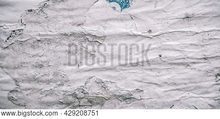 Texture Poster. Abstract Rip Vintage Sheet Frame. Old White Torn Paper Texture Background. Posters P