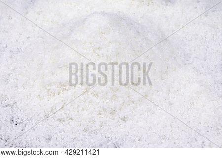 Salt. Salt Background Scattered White Salt. Spices