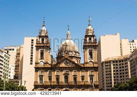 Candelaria Church (igreja De Nossa Senhora Da Candelaria) In Rio De Janeiro, Brazil