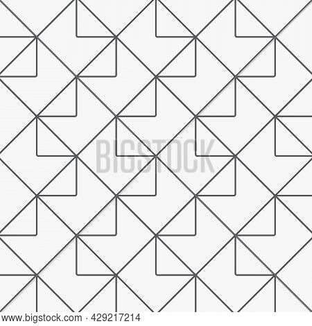 Geometric Linear Vector Pattern, Repeating Geometric Of Diamond Shape, Triangle And Square, With Abs