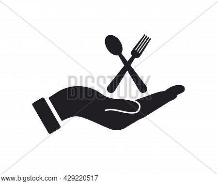 Hand Restaurant Logo Design. Restaurant Logo With Hand Concept Vector. Hand And Restaurant Logo Desi