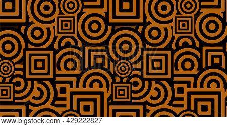 Abstract Geometric Background. Bauhaus, Memphis Minimalist Retro Poster Graphic Vector Illustration