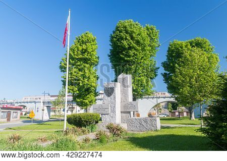 Strzegom, Poland - June 3, 2021: Monument To The 1000th Anniversary Of The Polish State And The 1050
