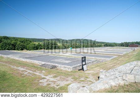 Rogoznica, Poland - June 3, 2021: Camp Grounds Of Former Nazi Concentration Camp Gross-rosen.