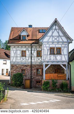 Beautifully Renovated Half-timbered House Typical For The Region In A Small Community In Southern Ge