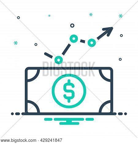 Mix Icon For Economic Financial Monetary Bounty Favourable Profit-making Money-making Profitable Bus